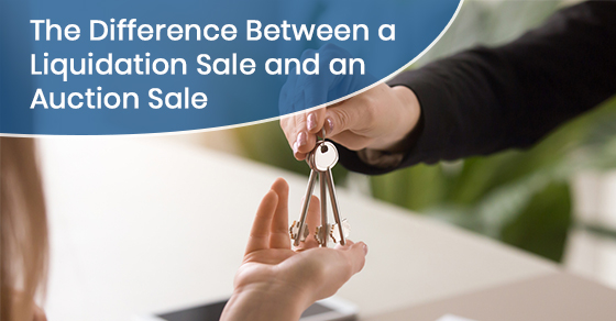 What is the difference between a liquidation sale and an auction sale?