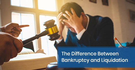 What is the difference between bankruptcy and liquidation?