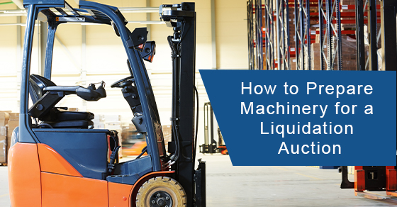 How to prepare machinery for a liquidation auction